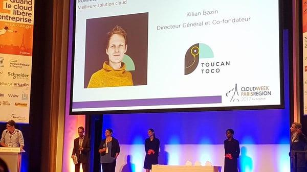le trophée du cloud Toucan Toco kilian bazin directeur général