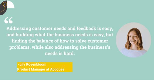 Quote customer need