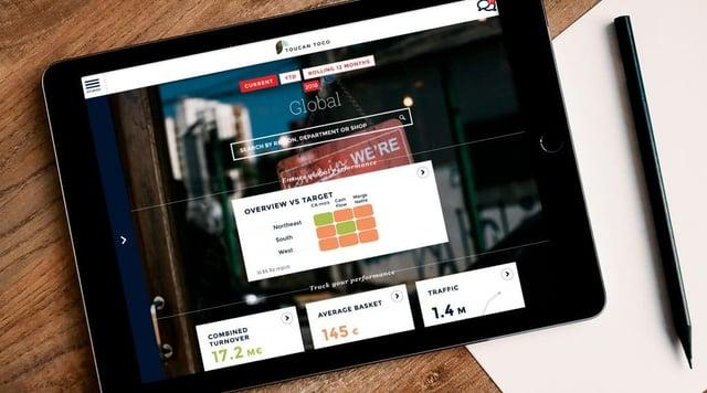 Dashboard analytics mobile ToucanToco